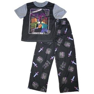 Boys' Minecraft Enderman 2 Piece Pj Set